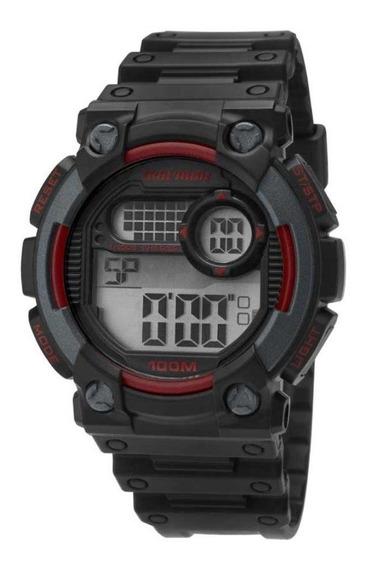 Relógio Mormaii Masculino Digital Preto/vermelho Moy1587/8m