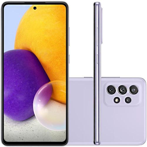 Imagem 1 de 6 de Celular Samsung Galaxy A72 Violeta 128gb 6gb Ram Tela 6.7