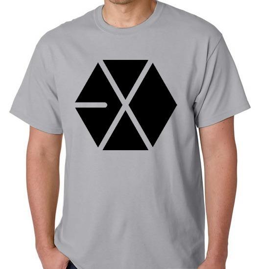 Camiseta Exo Unissex Xiumin Kai Camisa Blusa Banda Coreana