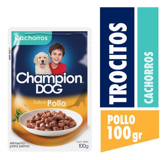 Champion Dog Pouch Cachorro Sabor Pollo 24x100g