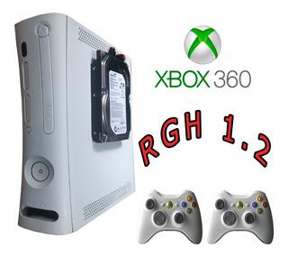 Xbox 360 320gb +300titulos 2 Controles Fuente Y Cable Hdmi