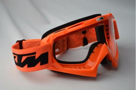 Oculos Motocross Laranja Ktm