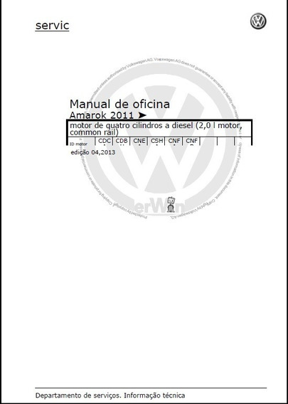 Manual De Serviços Amarok 2011 2.0