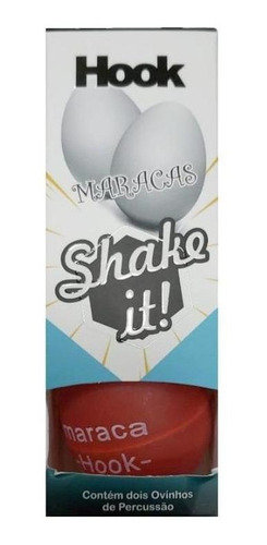 Maracas Hook Egg Shake It Vermelha