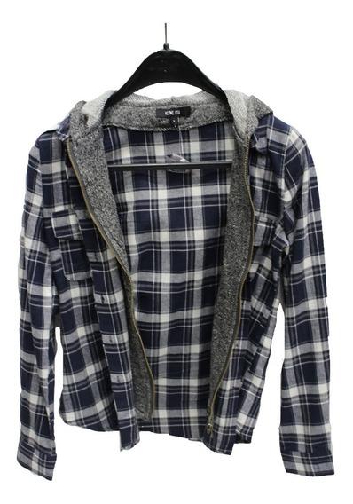 Camisa Mujer Con Capucha Cierre Y Botones (4443)