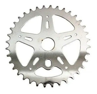 Engranaje Bicicleta Playera 44/46 Dientes Cromado - Racer Bikes