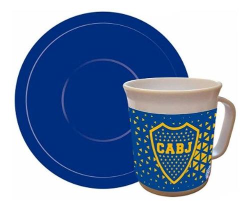 Taza Con Plato Boca Juniors Bo086 Cresko Envio Full