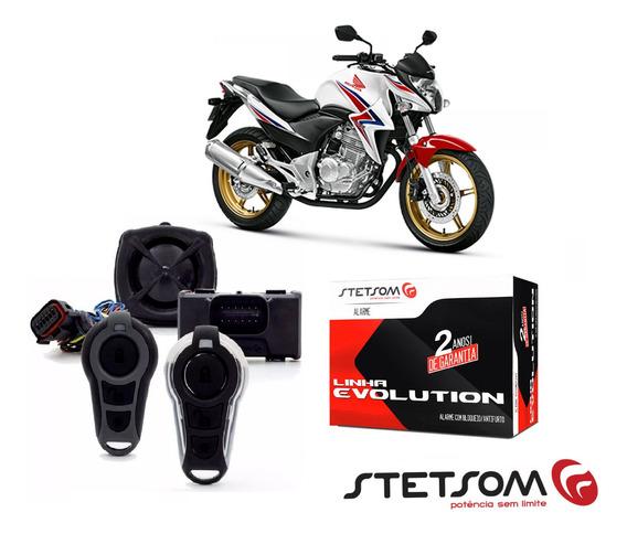 Alarme Honda Cb 300r 2009 Á 2015 Stetsom Moto Partida Instalação Sem Corte De Fio Com Nota Fiscal 2 Anos De Garantia