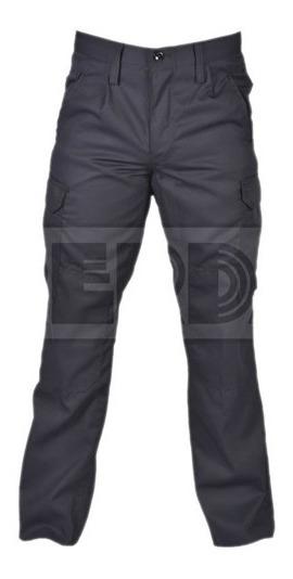 Pantalón Táctico Cargo Gabardina Azul Policía T:50-54 Cuotas