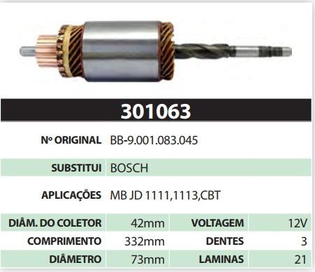 Induzido 12v Bb Mb Jd 1111 1113 Cbt Bosch