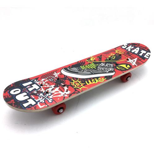 Imagen 1 de 5 de Patineta Skate De Madera Chico Varios Diseños