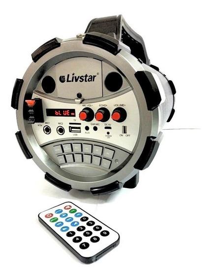 Caixa De Som Bazooca Bluetooth Amplificada Karaoke Controle