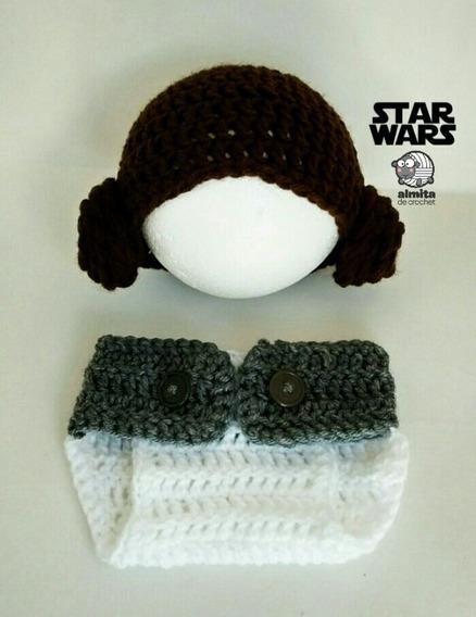 Star Wars Conjunto De Gorro Y Cubre Pañales Leia