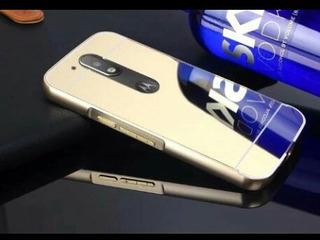 Capa Para Moto G4 Plus De Aluminio Espelhada, Veja Descrição
