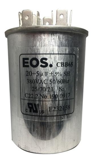Capacitor Eos D23708 20+2uf 380v