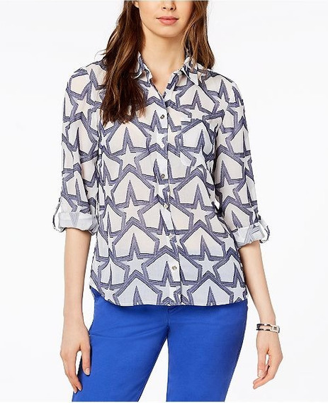 Tommy Hilfiger Camisa Casual P/mujer Talle M, Orig, Nueva!!!