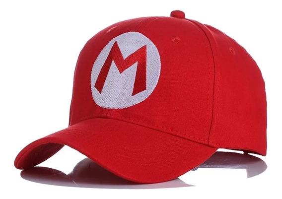 Gorra Anime Bordada Béisbol Tipo Súper Mario Bros Y Luigi