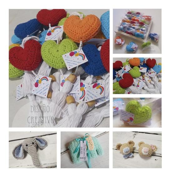 Souvenir Corazon Tejido Crochet Personalizado