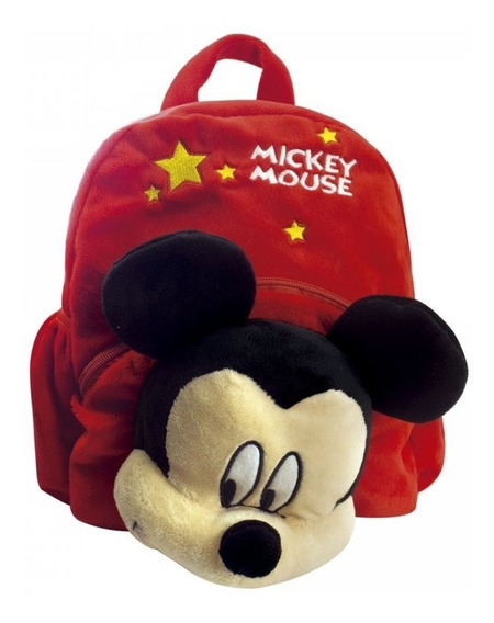Mochila Pelúcia Rosto Mickey Mouse Licenciada Original