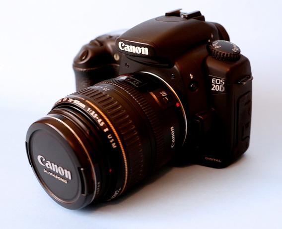 Canon Eos 20d Com Lente 28-105mm Na Caixa Excelente