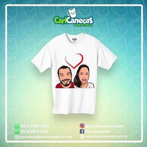 Camiseta Com Caricatura