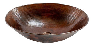 Lavabo Ovalin Vessel De Cobre Para Baño - Cosasdecobre