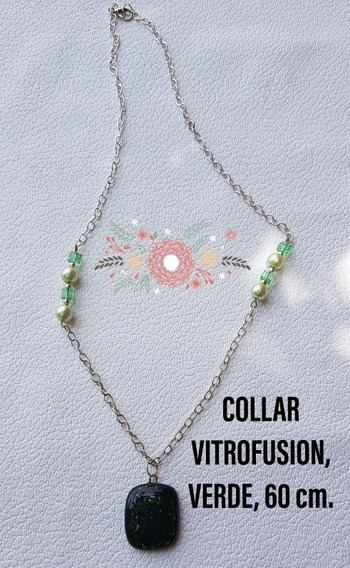 Collar Fino, Elegante,orioginal,diseño Exclusivo,vitrofusión