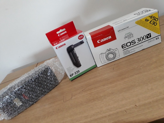 Peça Única: Canon 300v (filme 35mm) + Bp-220 + Flash Fh95
