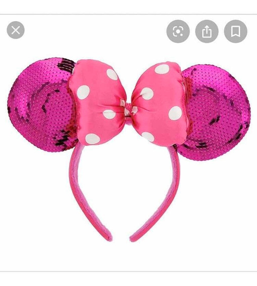 Orejas De Minnie Rosa Originales