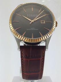 Reloj Feraud Lf10022gb Acero Inoxidable Cuero Eco(oferta)
