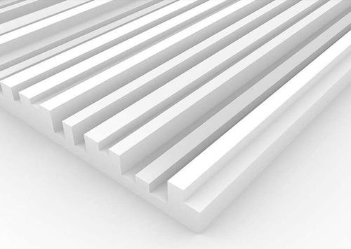 Imagen 1 de 6 de Panel Acústico Premium Blanco Ignifugo - City 50mm