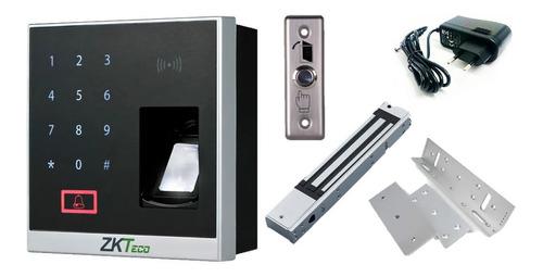 Imagen 1 de 9 de Combo Acceso Biométrico X8 Zkteco Bluetooth Tarjetas Rfid