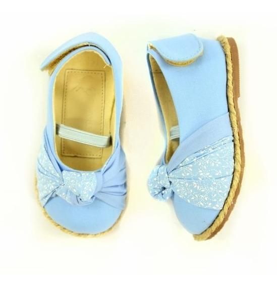 Sapatinho Infantil Azul Laço