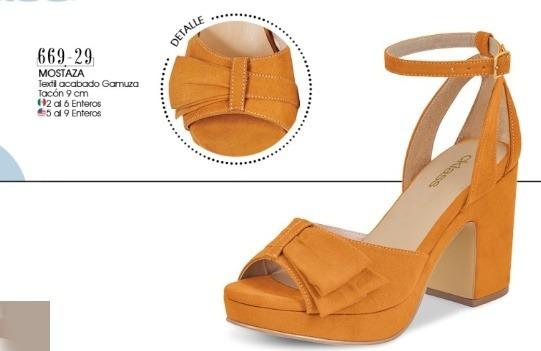 Zapato Dama Mostaza Mod. 669-29 Oi 2019