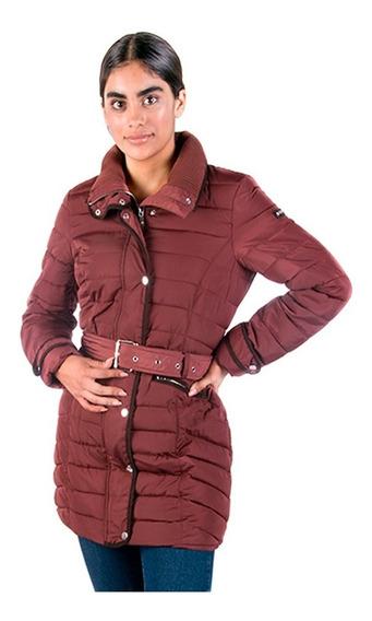 Chamarra Mujer Greenlander Pol5916 Larga Moda Cinturón