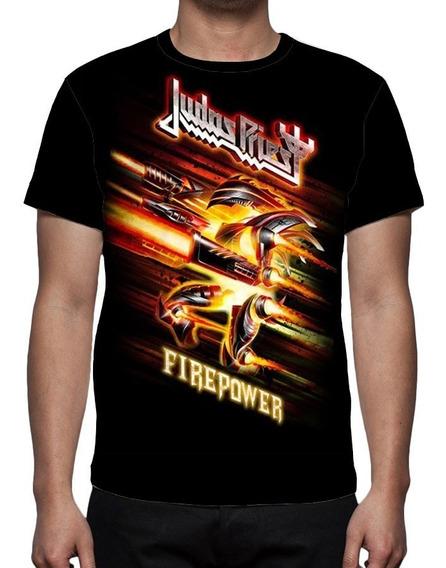 Camiseta Banda Judas Priest Firepower Mod 01 - Frente