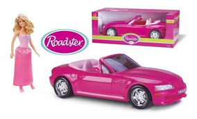 Boneca Barbie Princesa Loira Mattel + Carro Conversível Pink