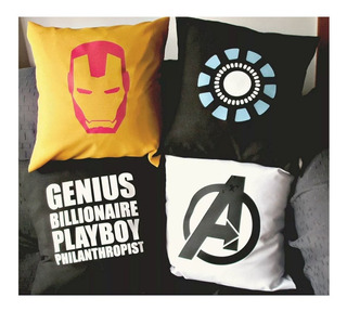 Almohadones Civil War Capitan América Iron Man Avengers
