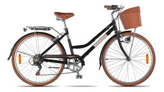 Bicicleta Paseo Dama Aurora Vita 6v Rod 26 Urbana-works!!