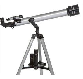 Luneta Telescópio Em Alumínio Terrestre Astronômica Até 675x