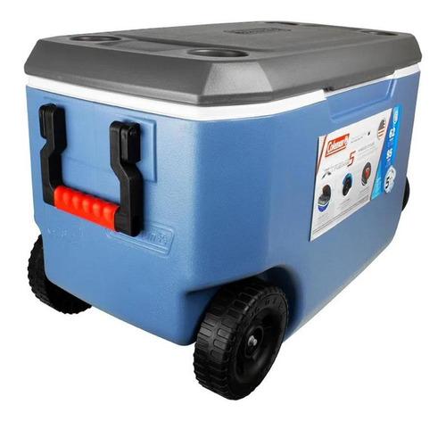 Caixa Térmica Cooler Xtreme 5 62qt 58l C/ Rodas Azul E Cinza