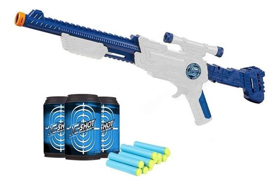 Arma Juguete Xshot Pistola Rifle Escopeta Hawk Eye 6 Latas