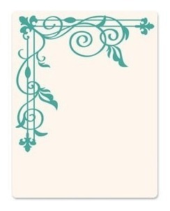 Carpeta De Repujado -embossing Folder- Corner Trellis
