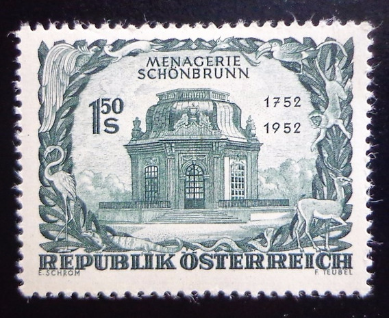 Austria, Sello Mi. 973 Schönbrunn 1952 Nuevo L10435