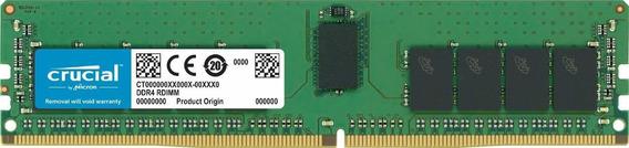 Memoria Ram 16gb Crucial Ct16g4rfd8266 16gb Ddr4-2666 Rdimm (1 X 16 Gb) Ddr4 Sdram 2666 Mhz Ddr4-2666/pc4-21300 1.20 V E