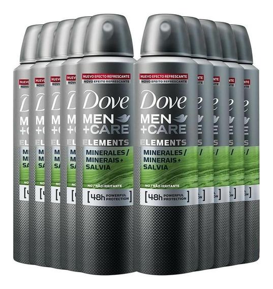 Desodorante Aerosol Dove Men Minerais + Sálvia 150ml - 10un