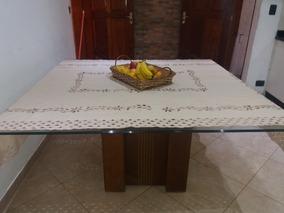 Mesa Tampo Vidro Para Cozinha/sala Jantar.(nãoentrego)