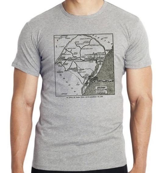 Camiseta Infantil Kids Linhas Férreas Rio Grande Do Sul Lind