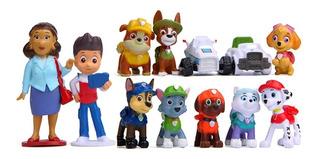 Figuras Paw Patrol Patrulla Canina Set X 12 Unidades