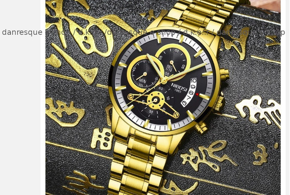 Relógio Nibosi 2309 Masculino Blindado Prova Dágua Funcional
